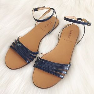 Poshmark ShoesJ Navy Leather Lilibeth Patent Sandals JCrew Qrtdhs
